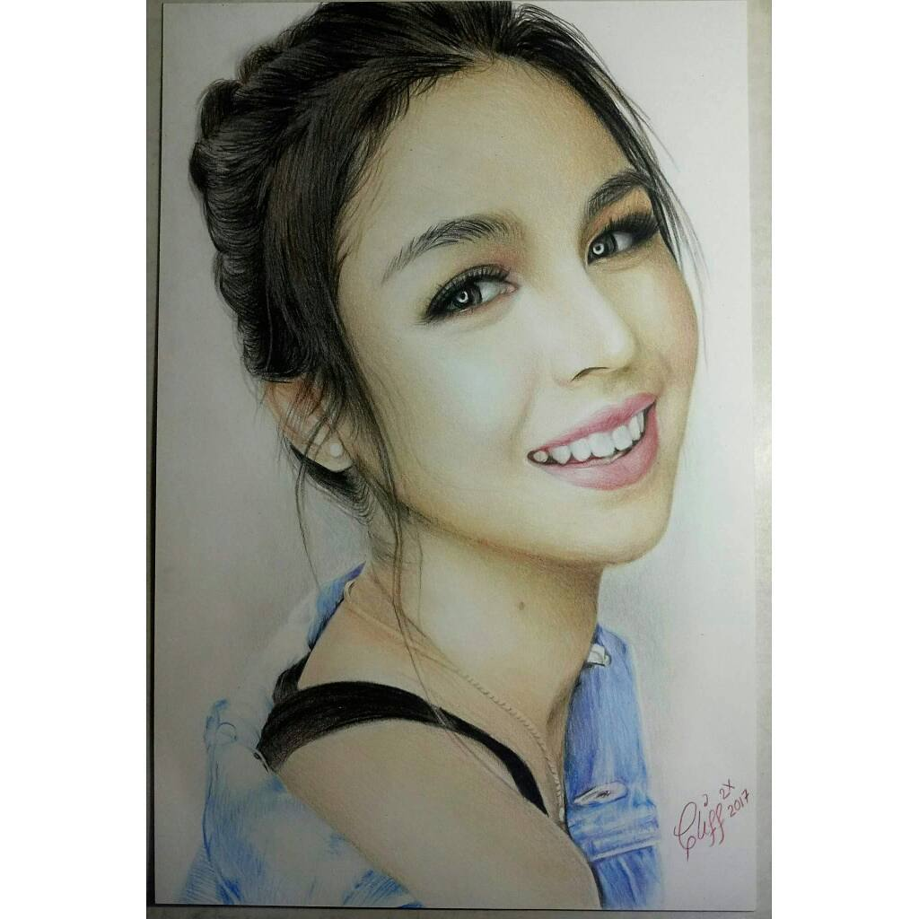 color pencil drawing braid cliff beron