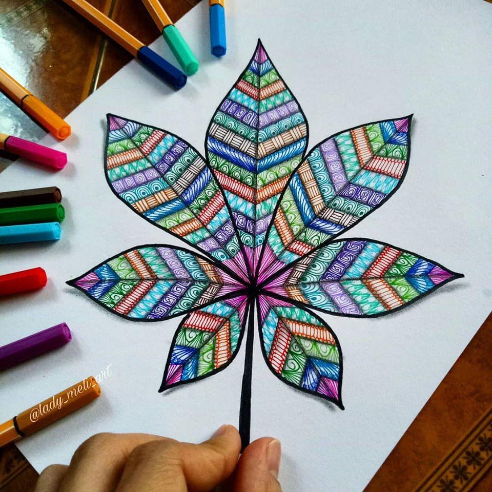 12 doodle art flower lady meli art
