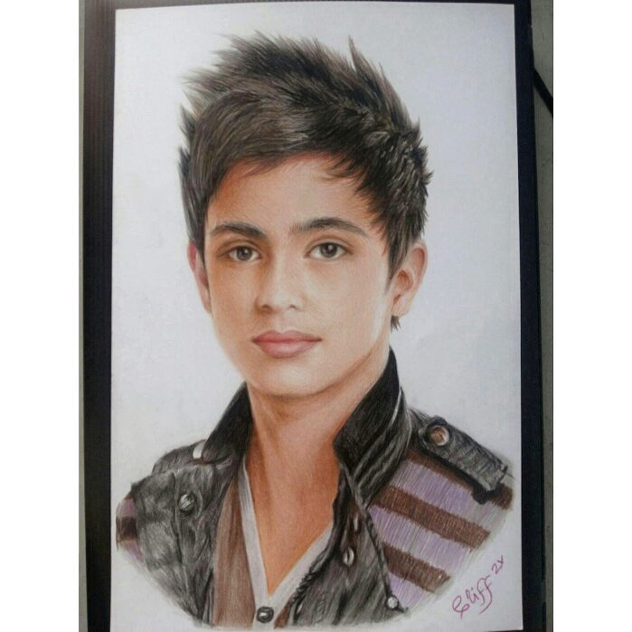 color pencil drawing boy portrait cliff beron