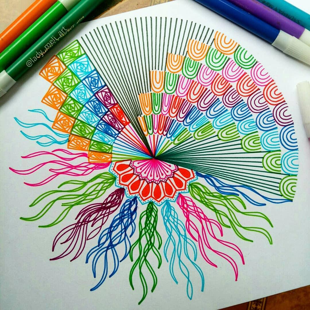 14 doodle art jellyfish lady meli art