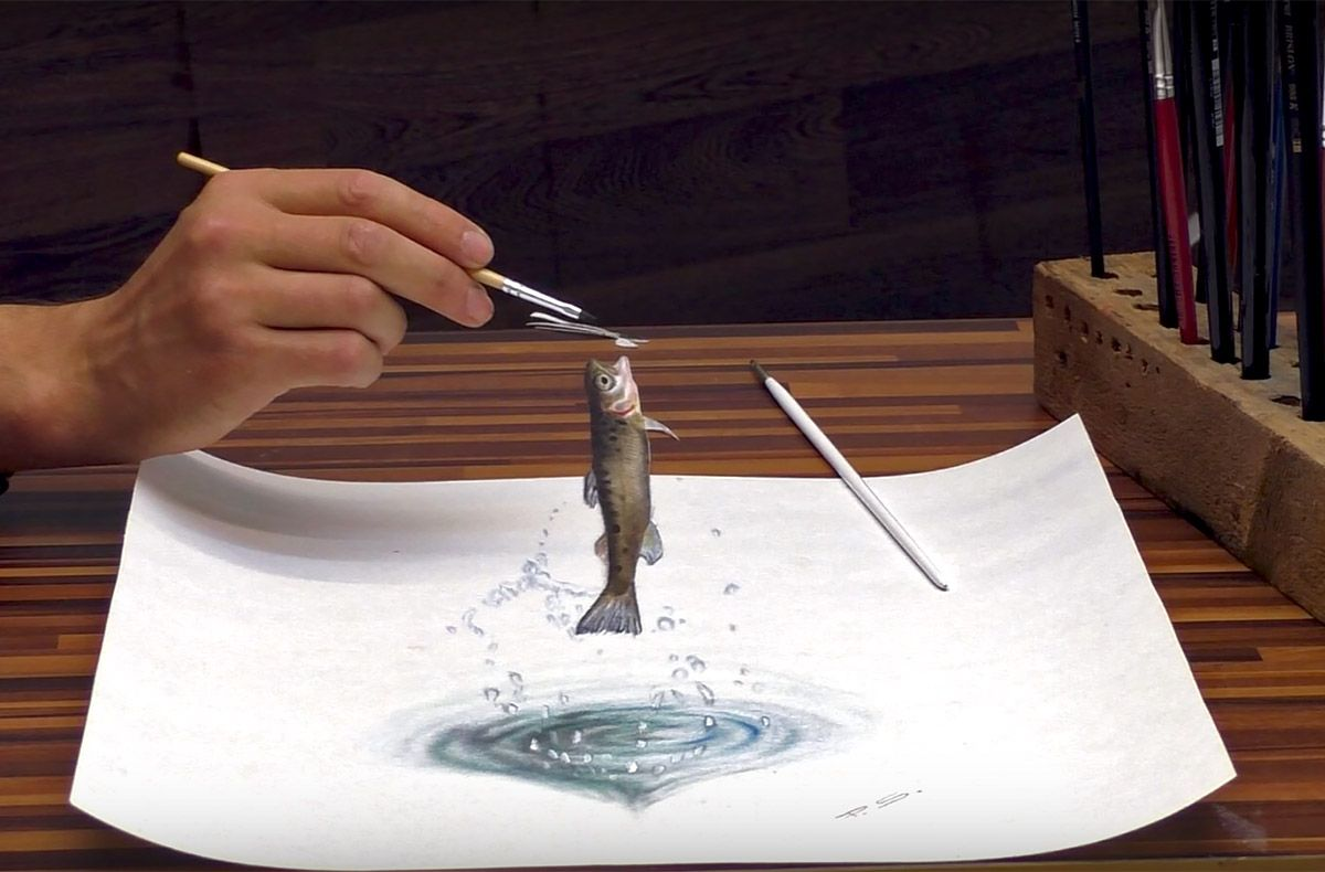 15 3d drawing fish stefan pabst