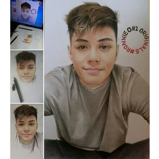 color pencil drawing smile boy cliff beron