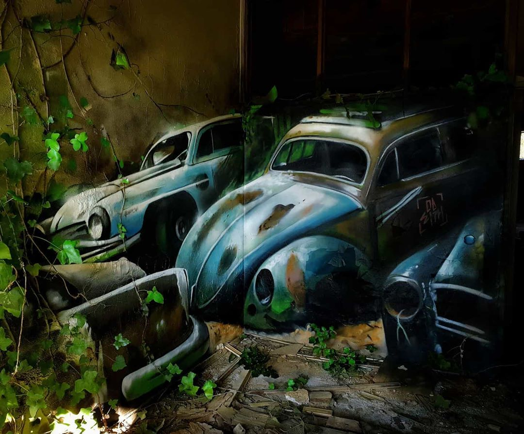 3d wall art mural painting car odeith