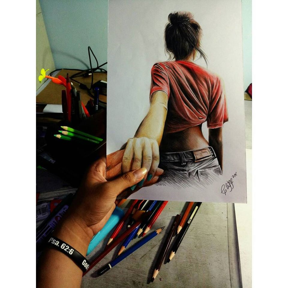 color pencil drawing hold me cliff beron
