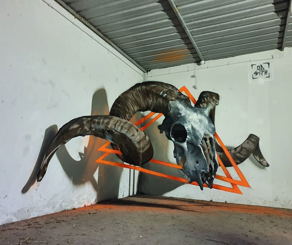 3d wall art mural painting demon odeith