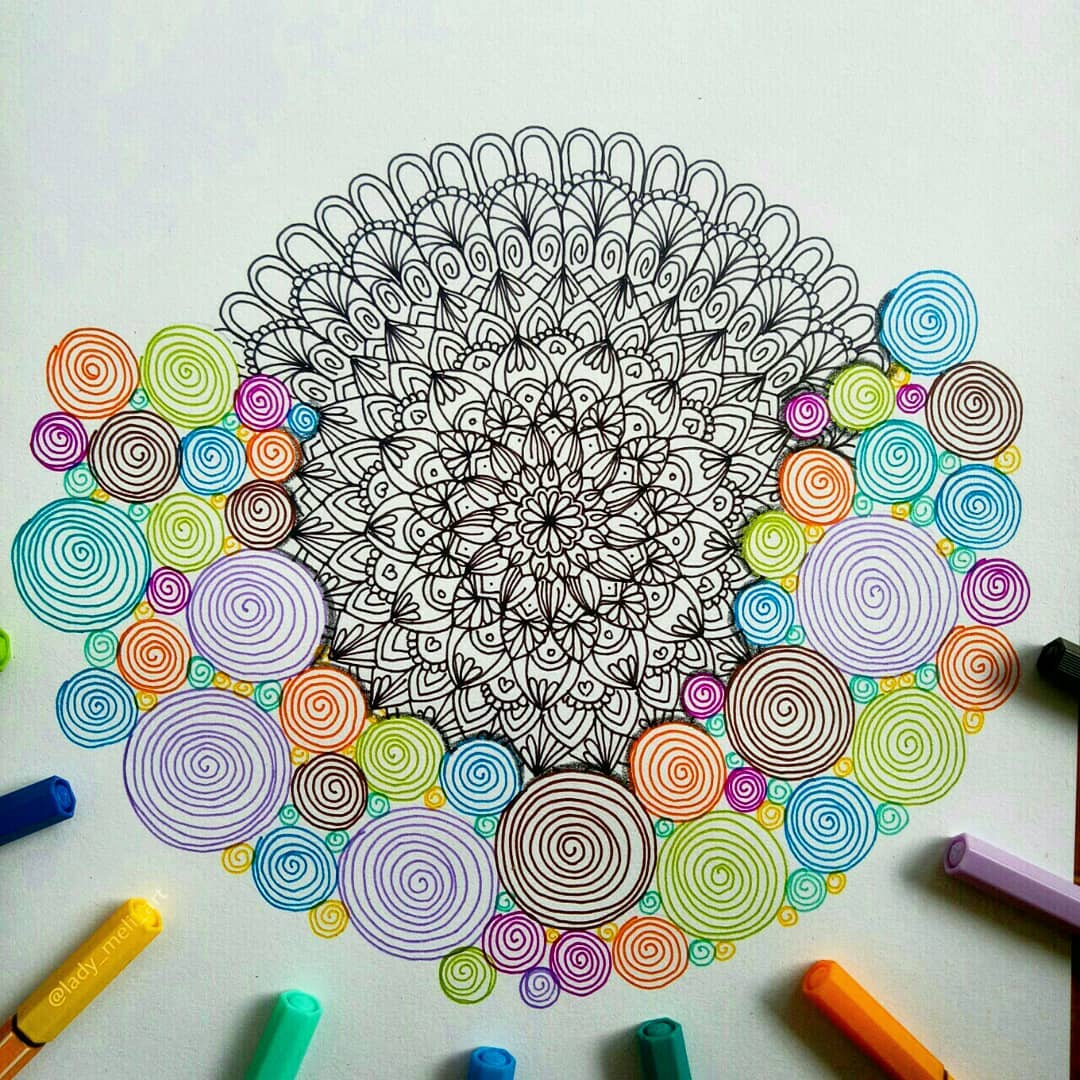 18 doodle art spirals lady meli art