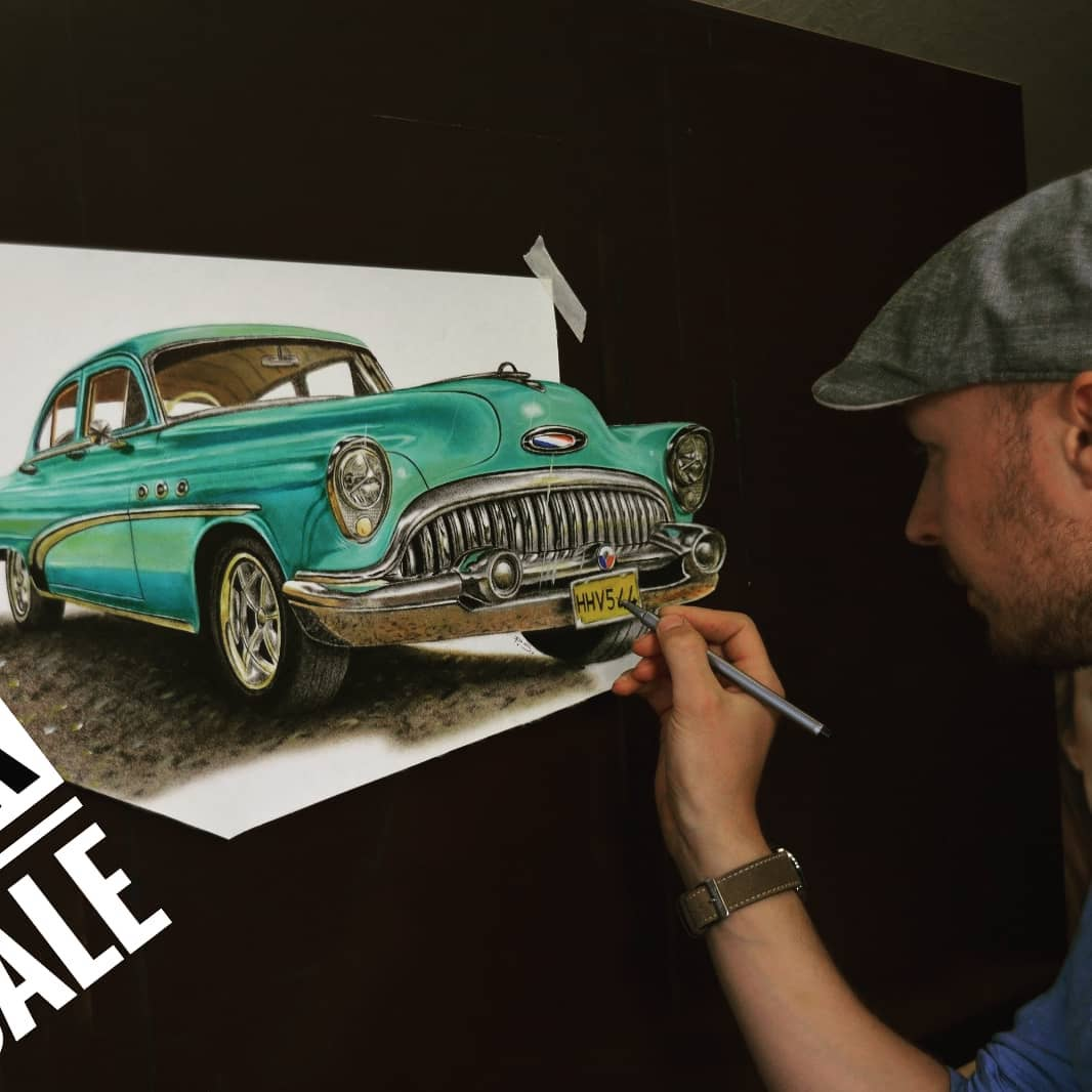 3d paintings car stefan pabst