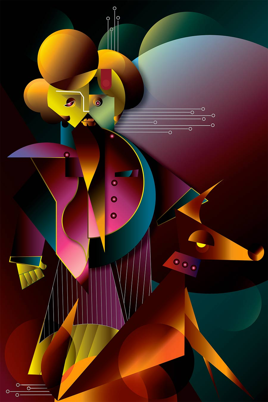 digital illustration singer shreyan naik