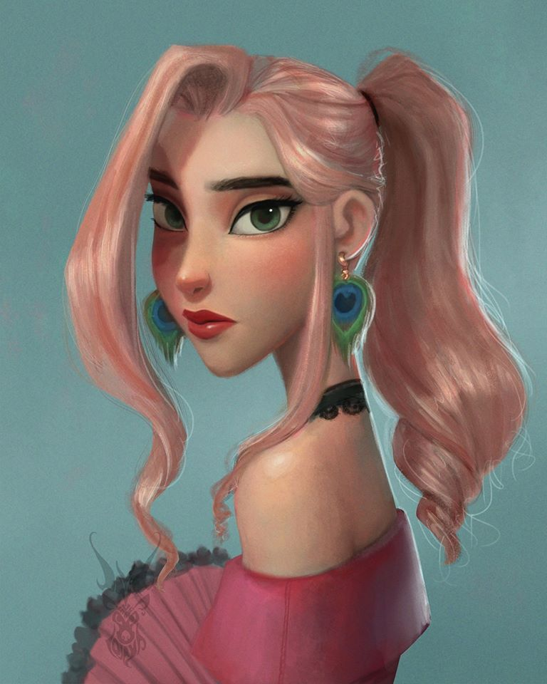 digital painting disney characters david ardinaryas lojaya
