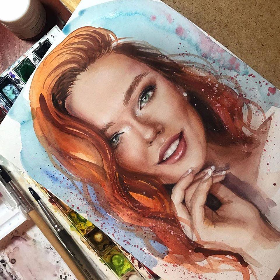 painting portrait ksenia cherkasova