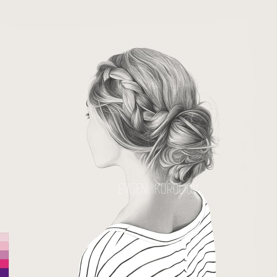 realistic pencil drawing braid evgeni koroliov