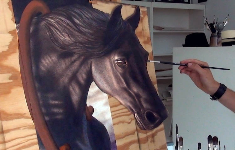 3d paintings horse stefan pabst