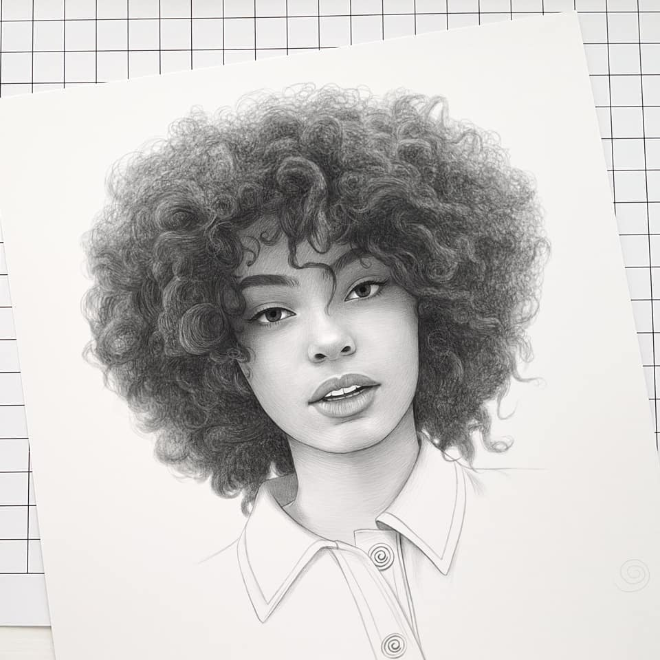 realistic pencil drawing curly hair evgeni koroliov