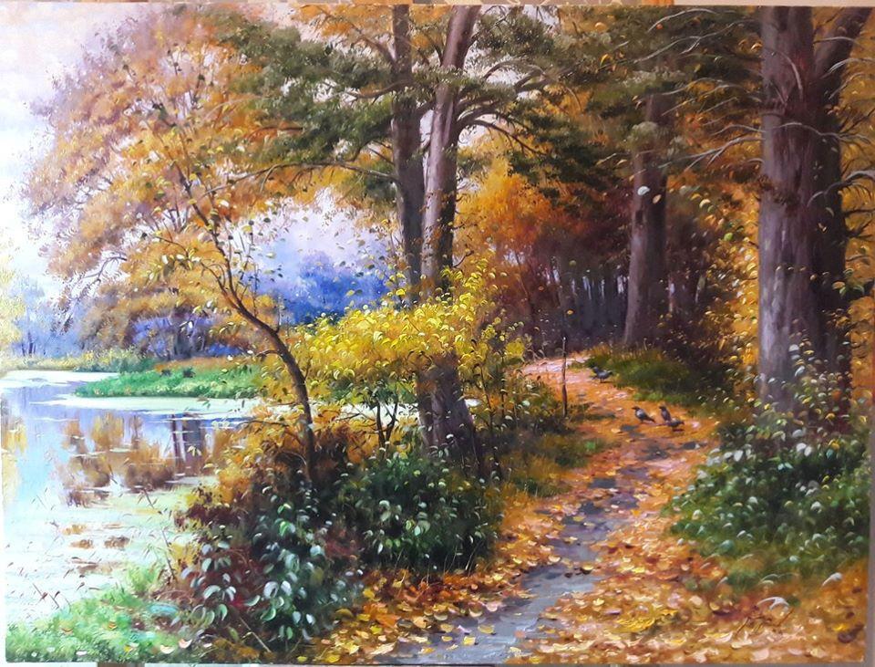 scenery painting forest mahmood jafari