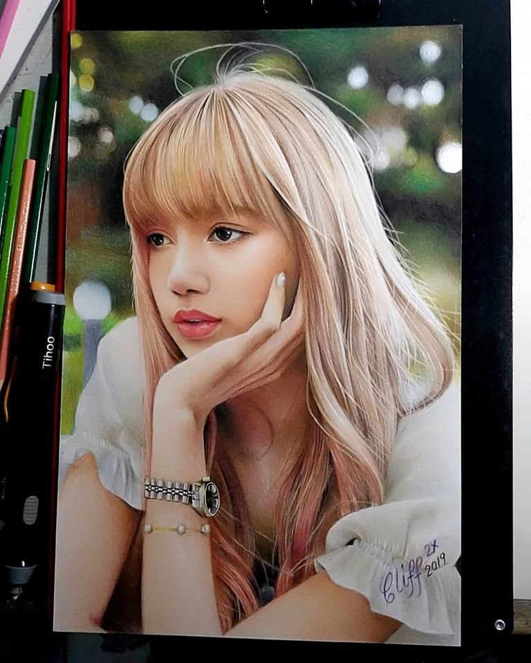 color pencil drawing girl portrait cliff beron