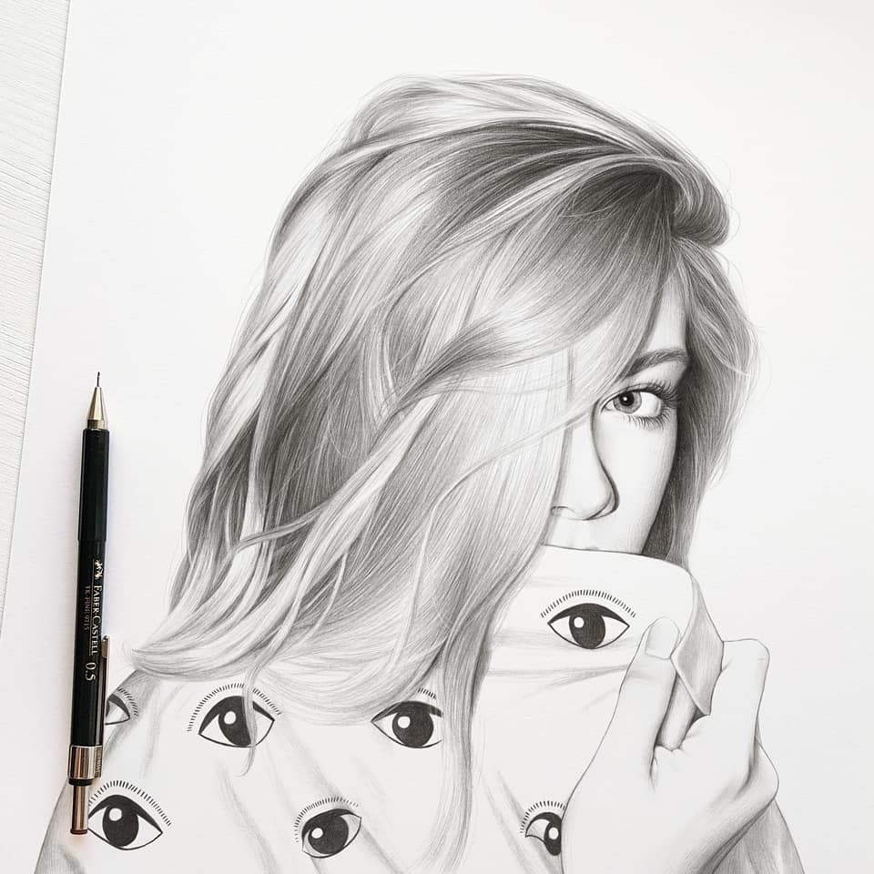 realistic pencil drawing eyes evgeni koroliov