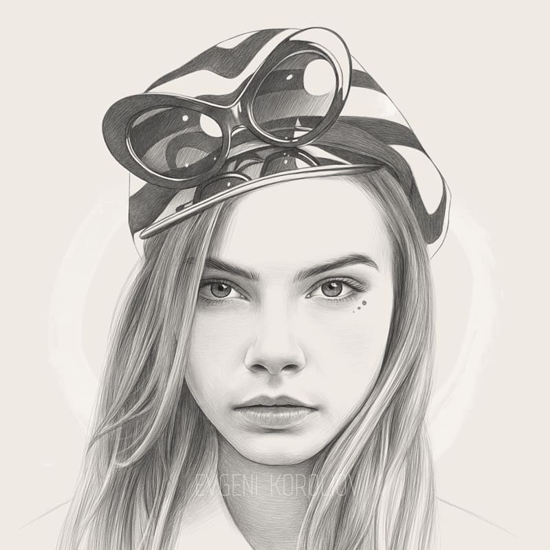 realistic pencil drawing goggles evgeni koroliov