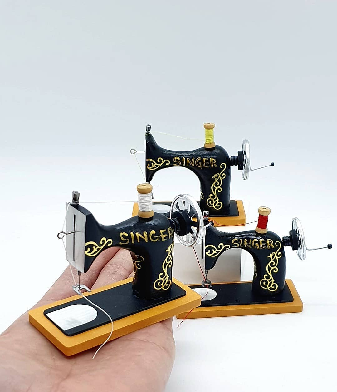 8 sculpture miniature sewing machine sunny miniworld