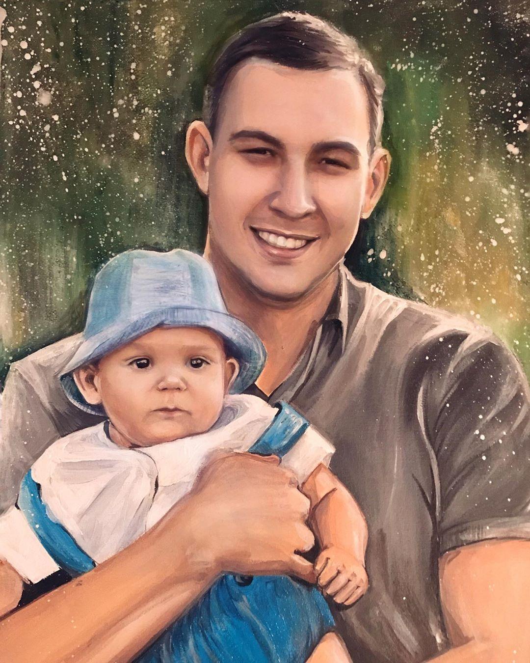 9 painting man baby ksenia cherkasova