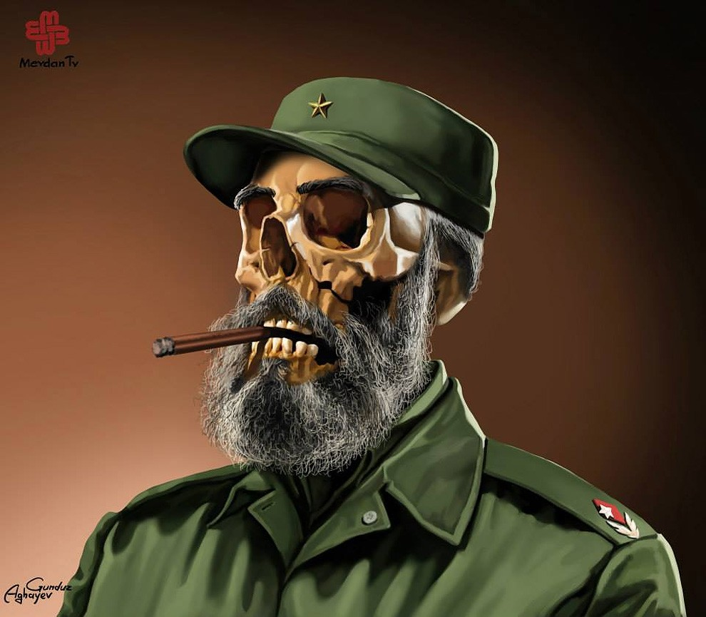 fidel castro creative digital illustration by gunduz aghayev