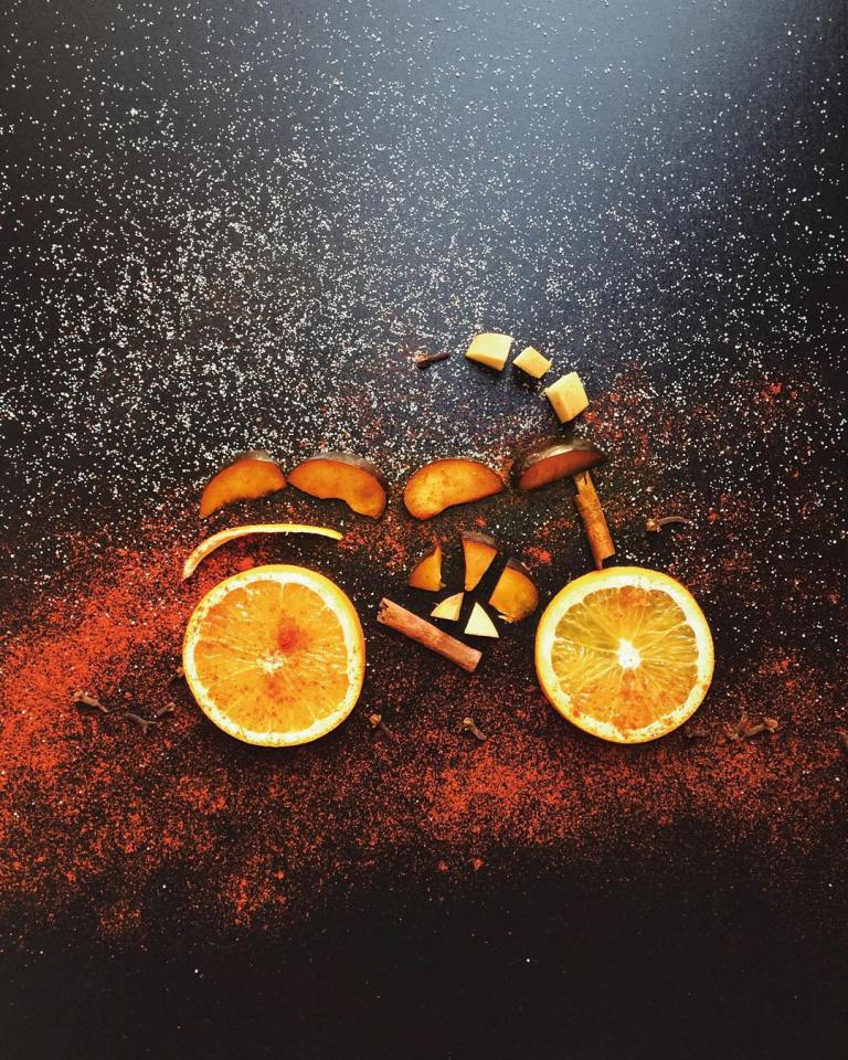 lemon bicycle creative drawings by cinzia bolognesi