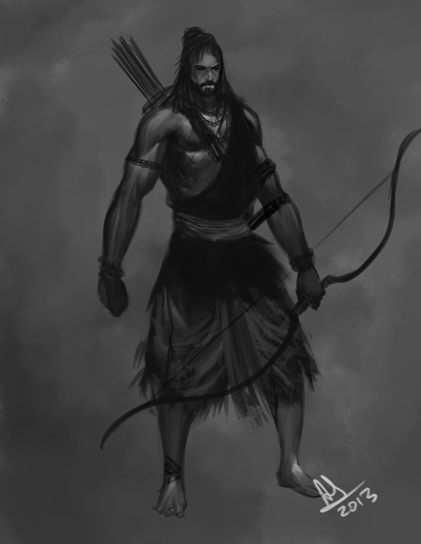 rama hindu gods digital painting by anirudh sainath molee