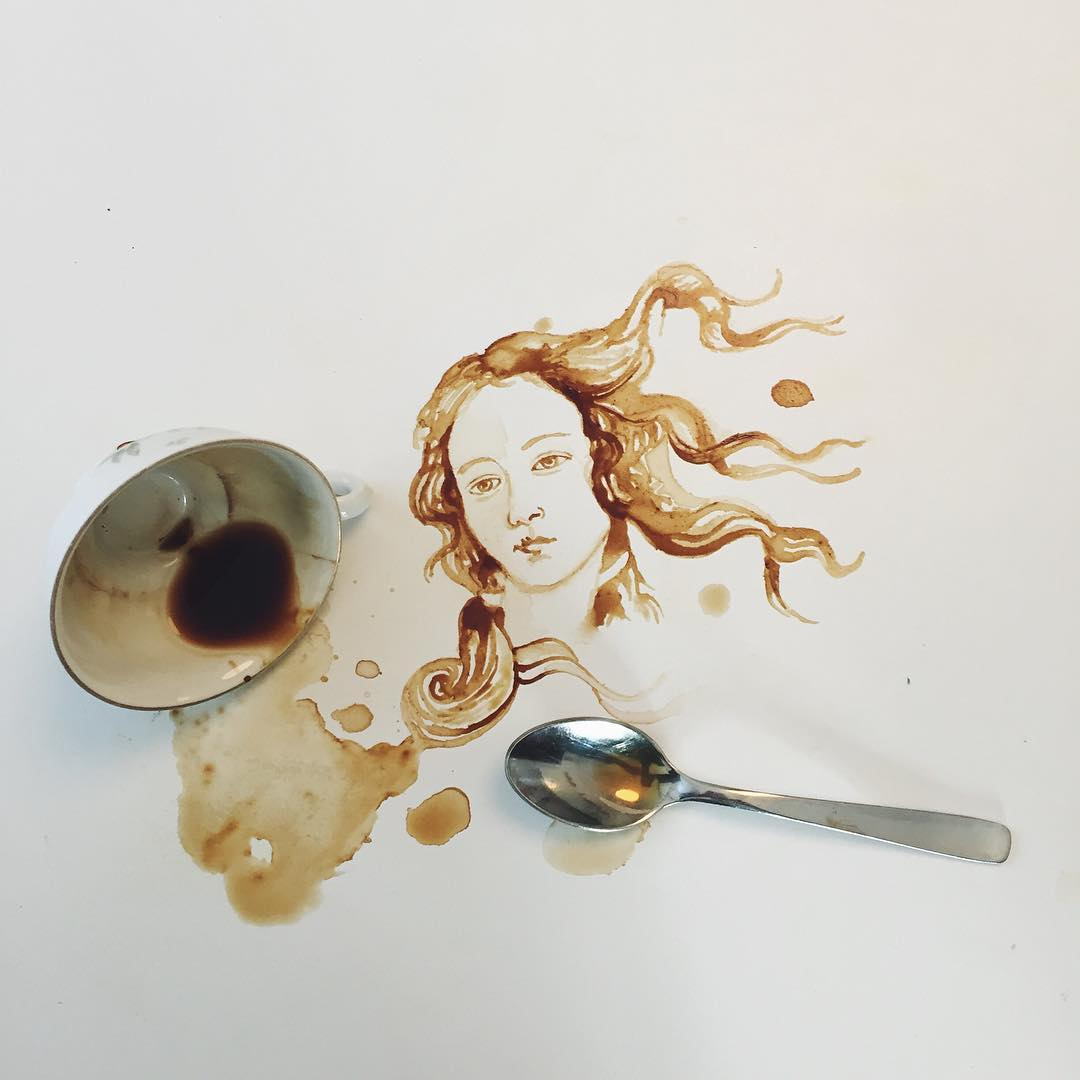 10 woman coffe art idea by giulia bernardelli
