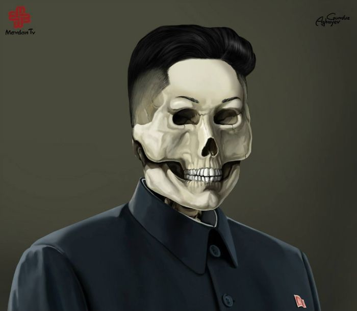 kim jong un creative digital illustration by gunduz aghayev