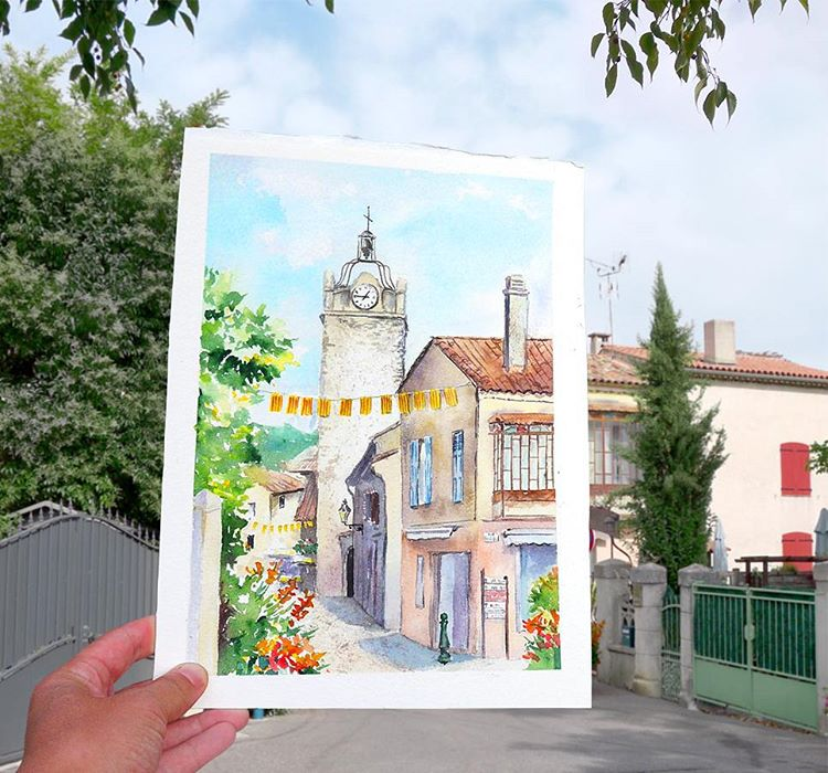 chuch watercolor paintings by elena efremova