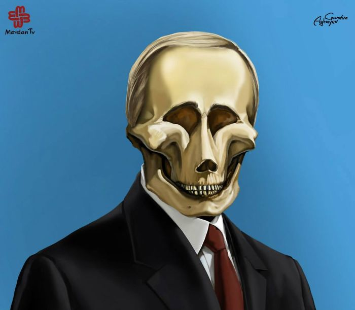 vladimr putin creative digital illustration by gunduz aghayev