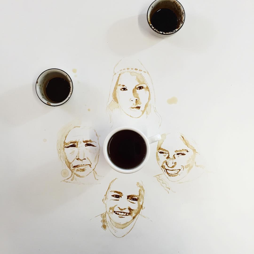 women coffe art idea by giulia bernardelli