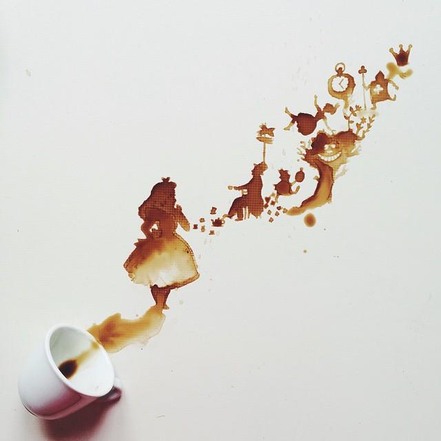 flying people coffe art idea by giulia bernardelli