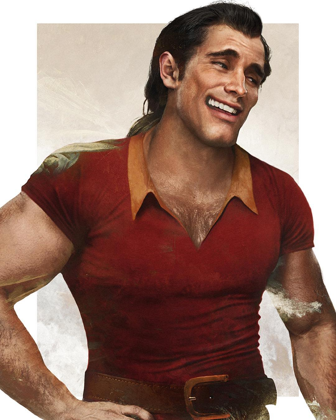 gaston disney realistic paintings by jirka vaatainen