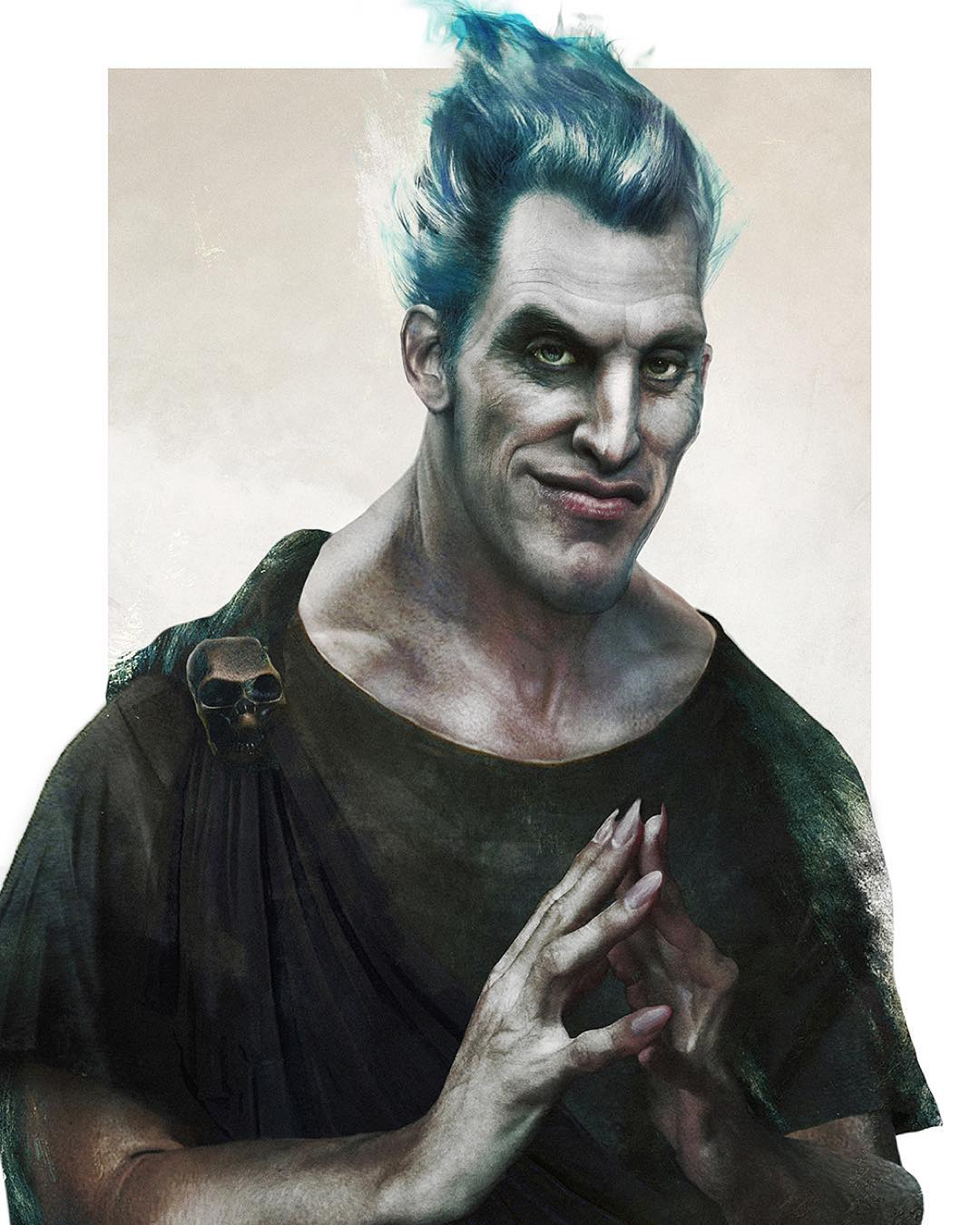 hades disney realistic paintings by jirka vaatainen