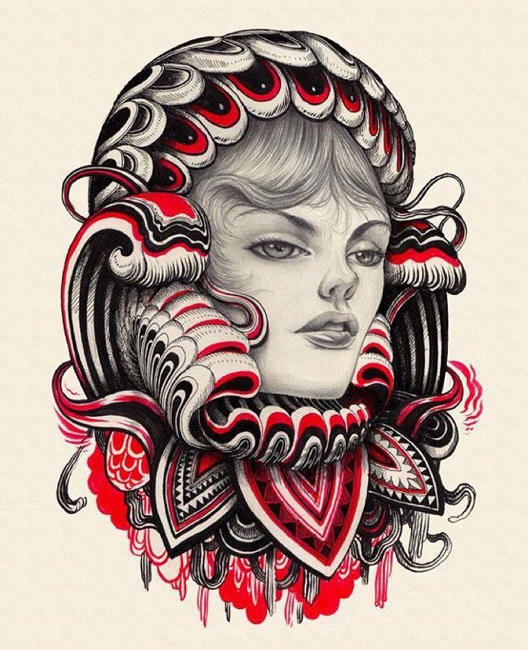 18 woman creative drawings by iain macarthur