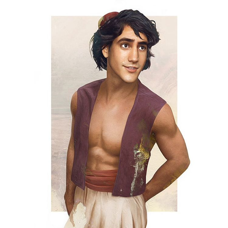 aladdin disney realistic paintings by jirka vaatainen