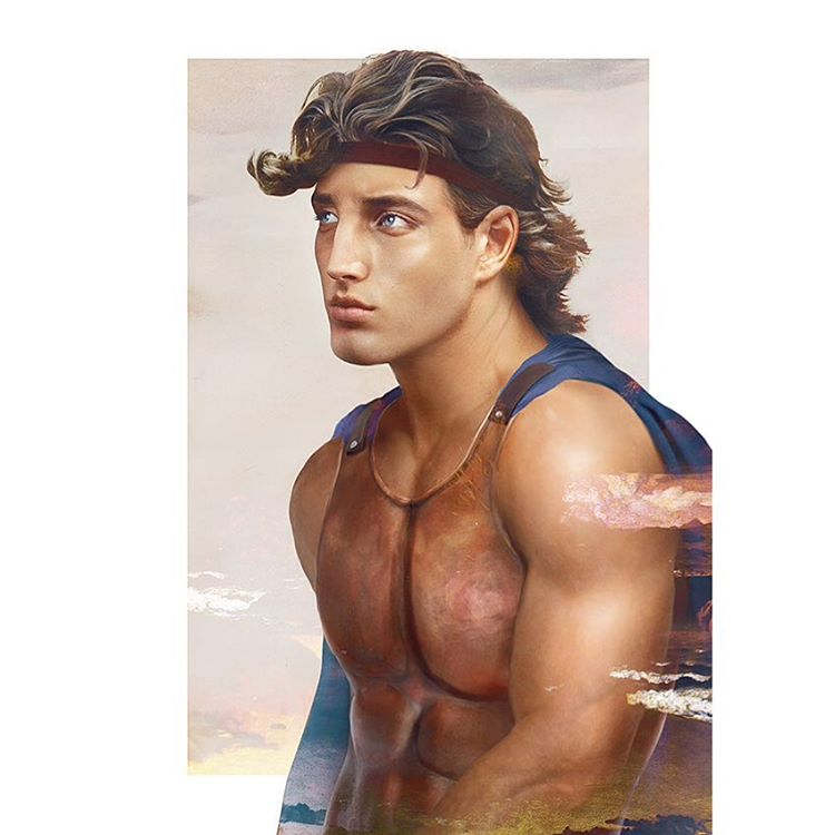 hercules disney realistic paintings by jirka vaatainen