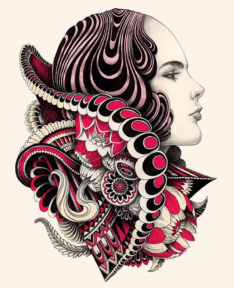 woman creative drawings by iain macarthur