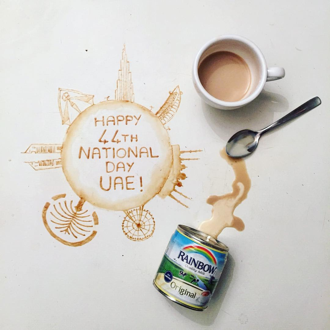 6 national day coffe art idea by giulia bernardelli