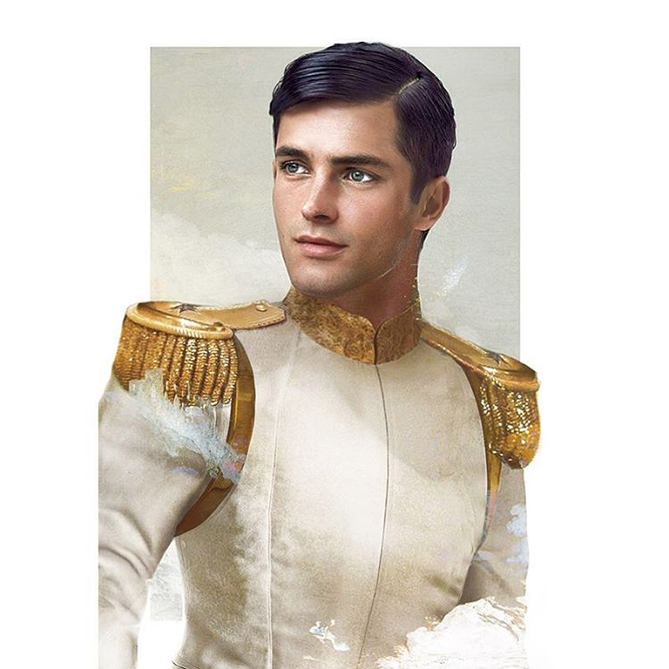 prince charming disney realistic paintings by jirka vaatainen