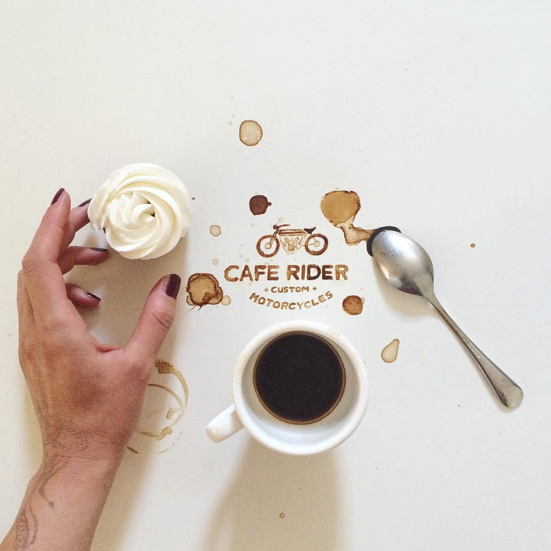 7 rider coffe art idea by giulia bernardelli