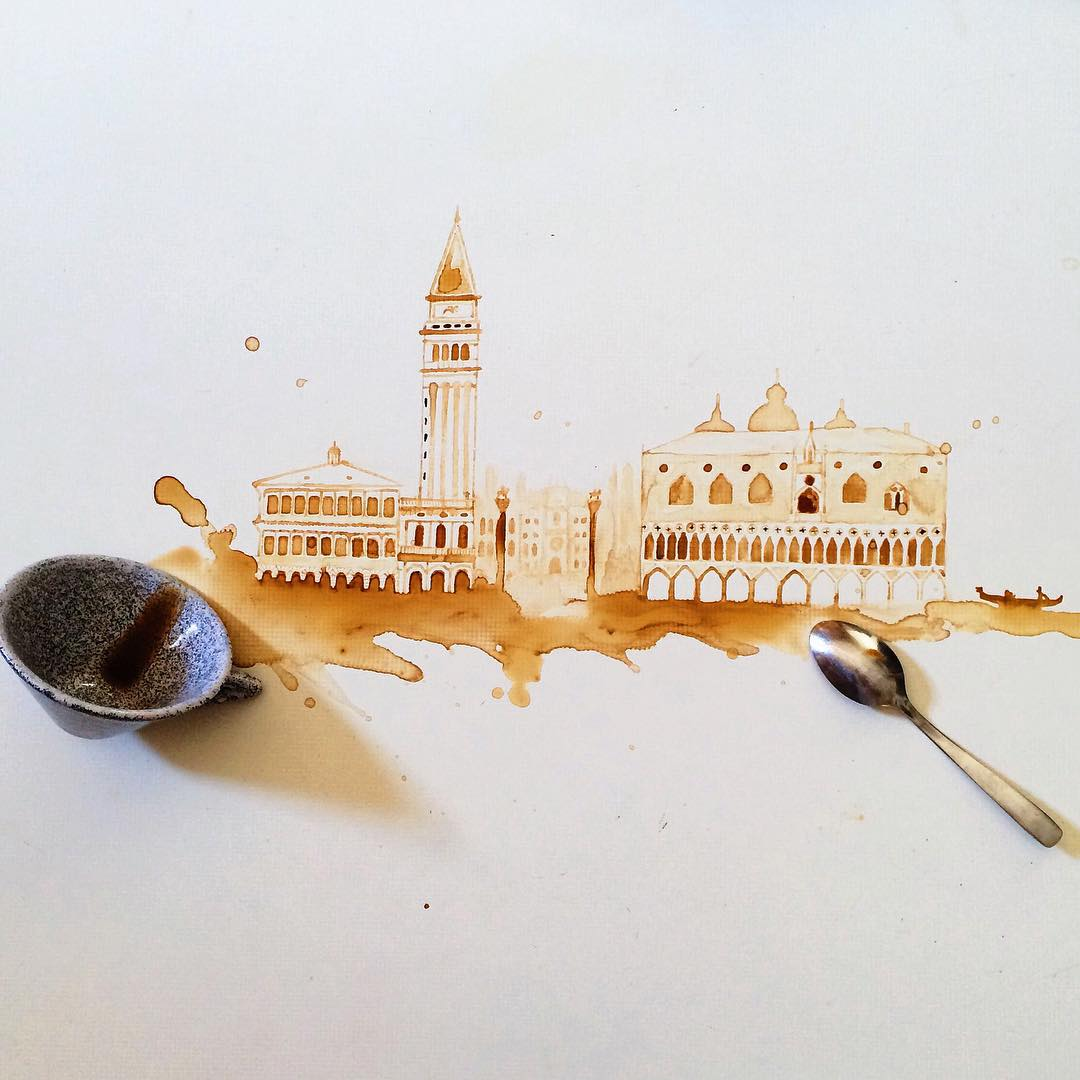 8 architecture coffe art idea by giulia bernardelli