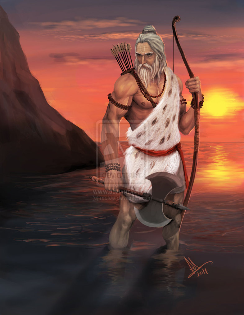 parashurama hindu gods digital painting by anirudh sainath molee