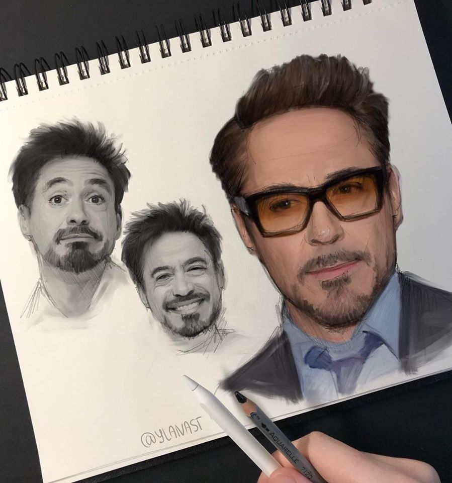 digital painting robert downey jr ylanast