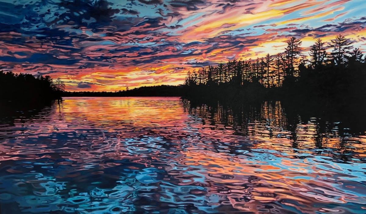 painting sunset brianne williams