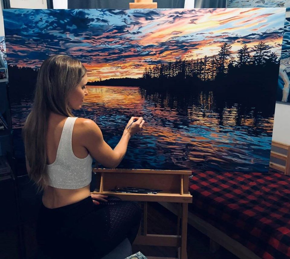 painting ocean brianne williams