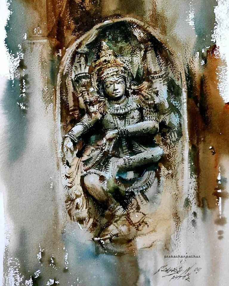 watercolor painting sculpture prakashan puthur