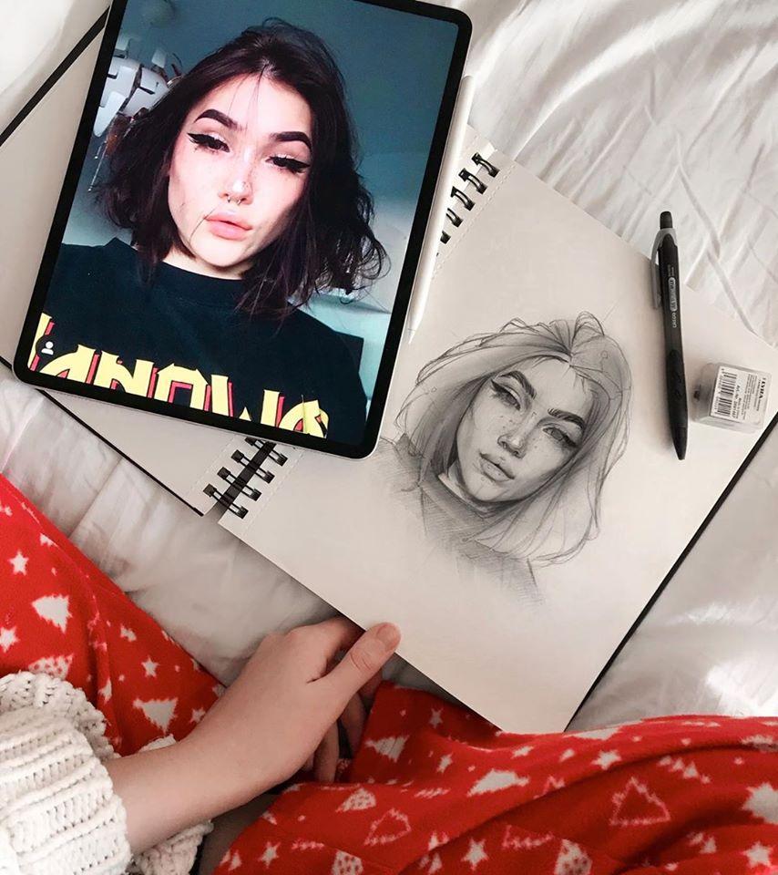 digital painting celebrities woman ylanast