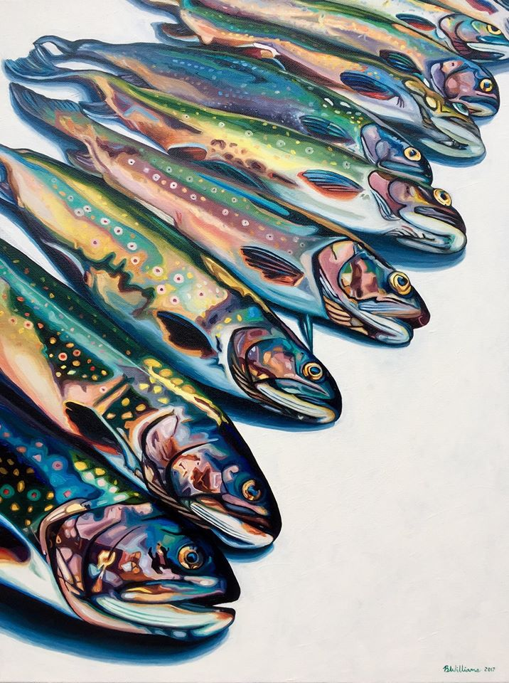 painting fresh fish brianne williams