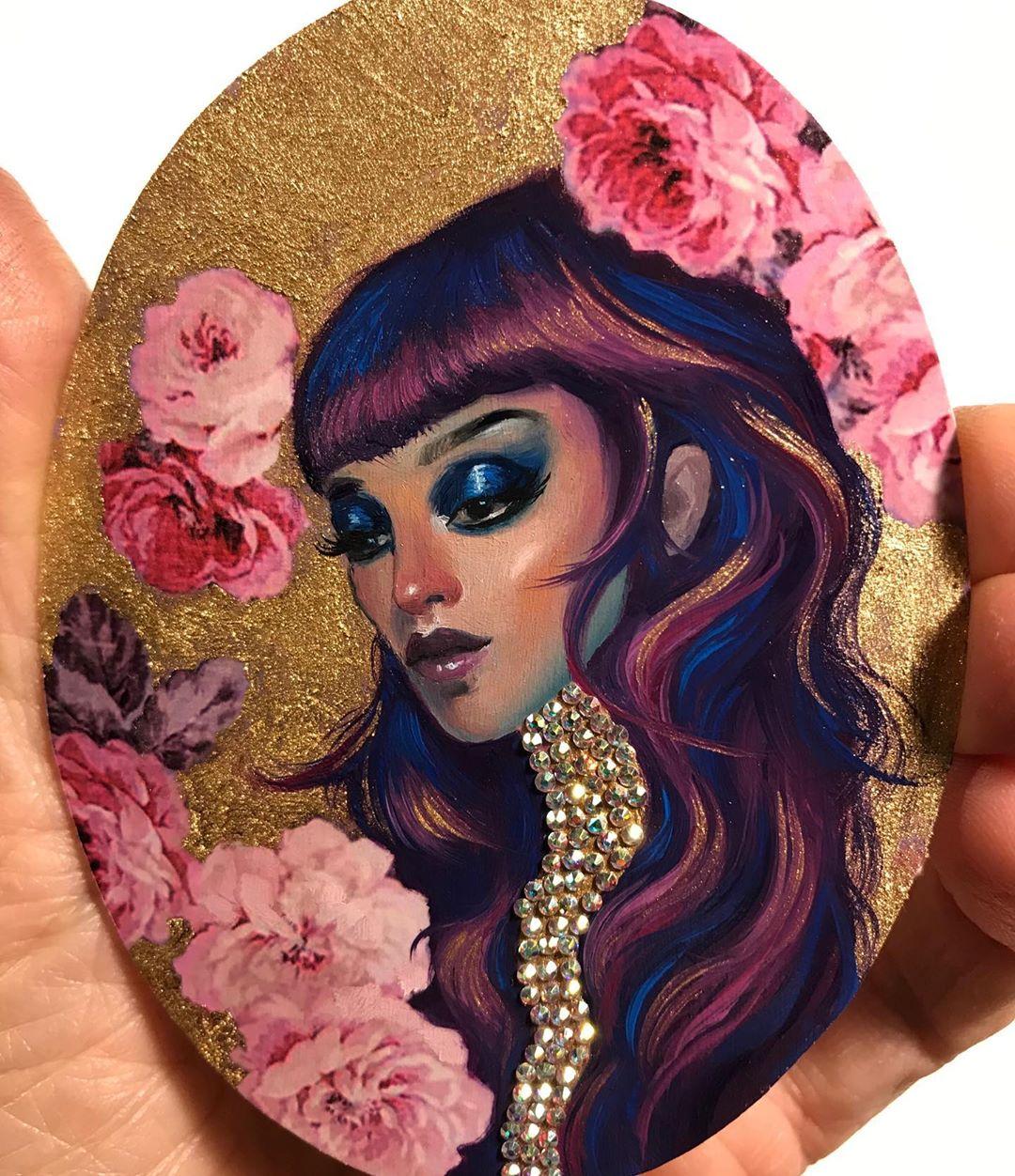 miniature oil painting portrait jel ena
